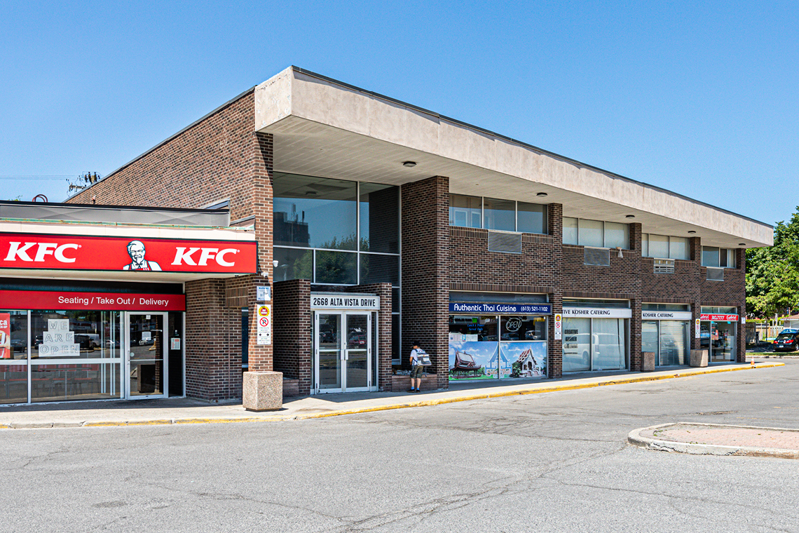 exterior second level office space for lease 2668 alta vista drive