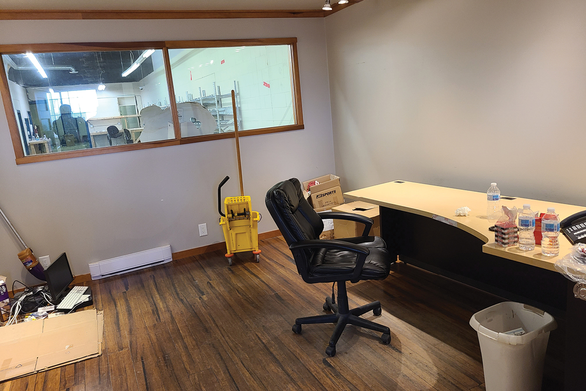 small office inside bay 242 upper level warehouse 250 city centre