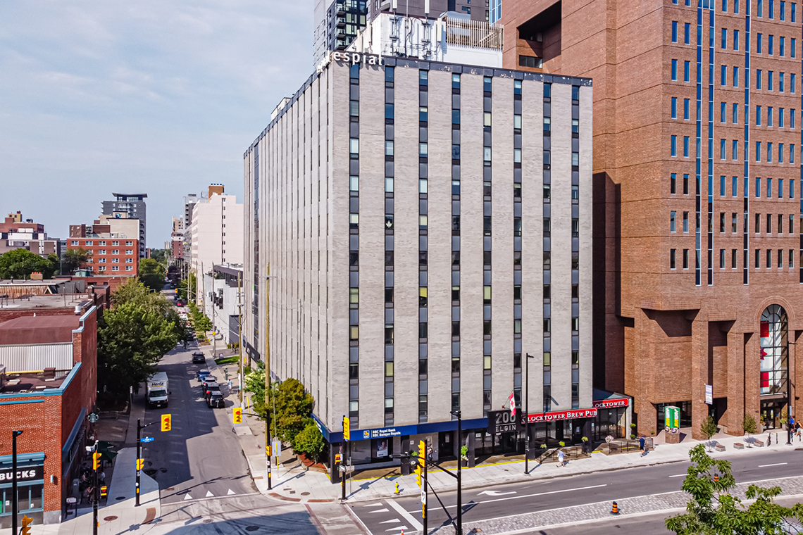 exterior 200 elgin street office for lease