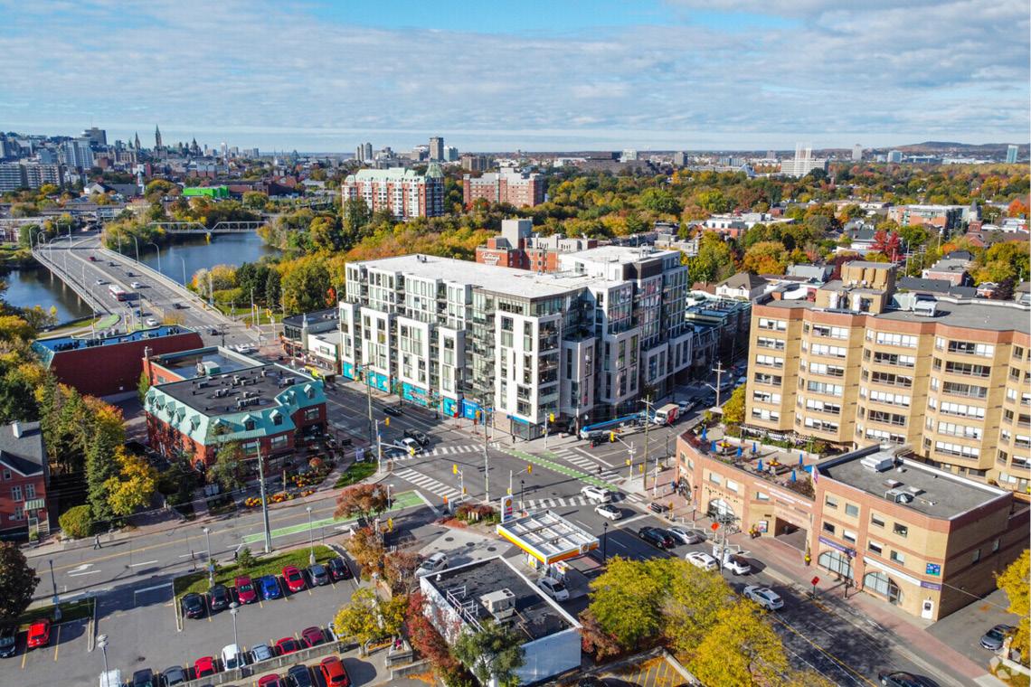aerial photo of 409 mackay street / 29 beechwood avenue