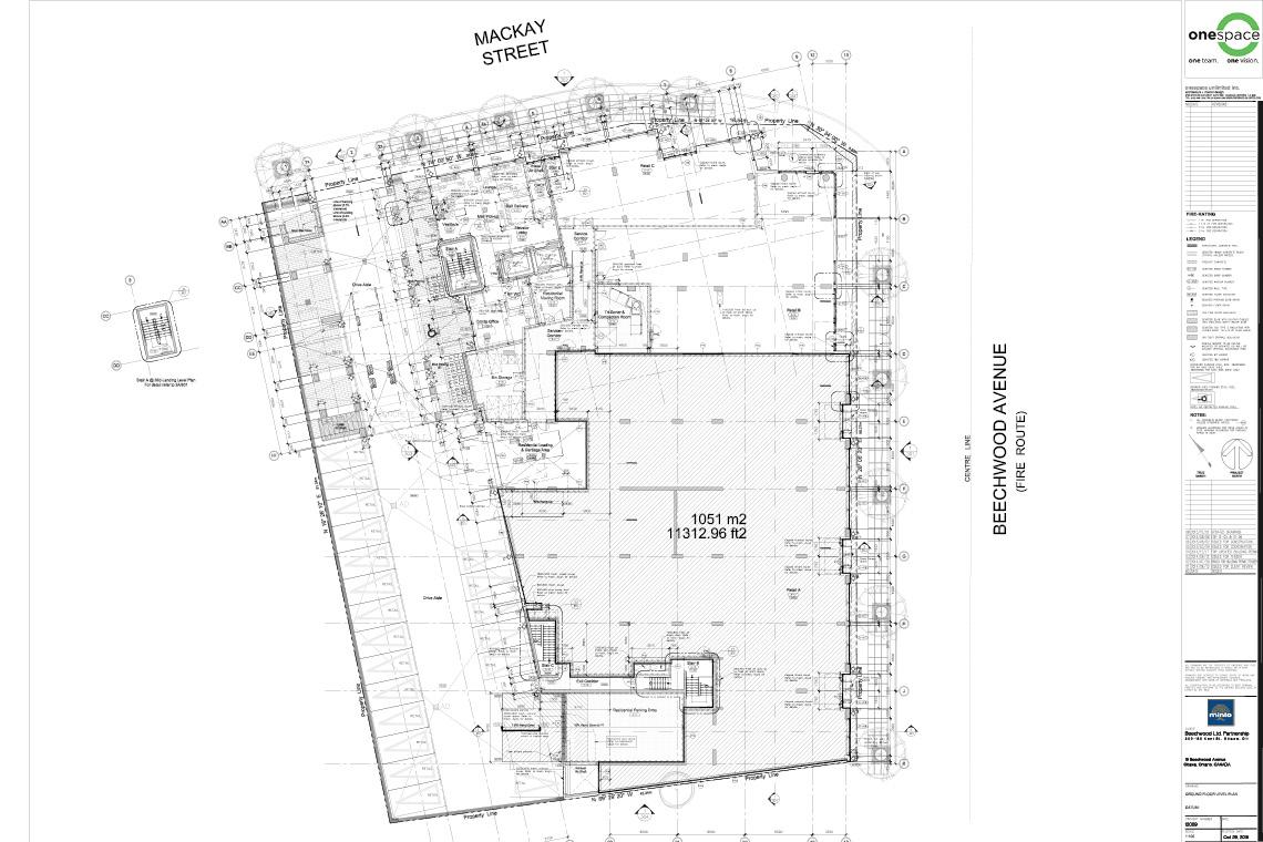 plan of ground floor retail space for sale 409 mackay street / 29 beechwood avenue