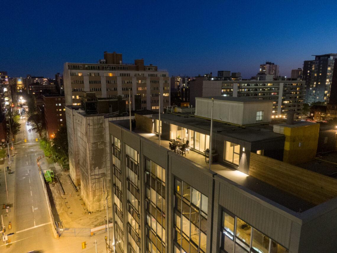 Penthouse Terrace at 170 Metcalfe St.