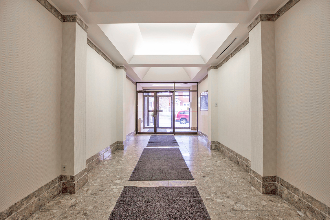lobby interior facing out 1339 wellington street west