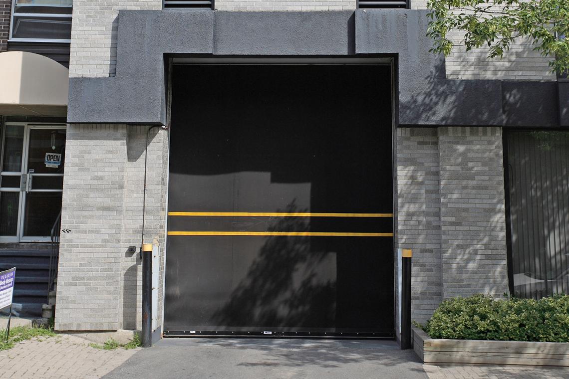 door to underground parking garage 200 elgin