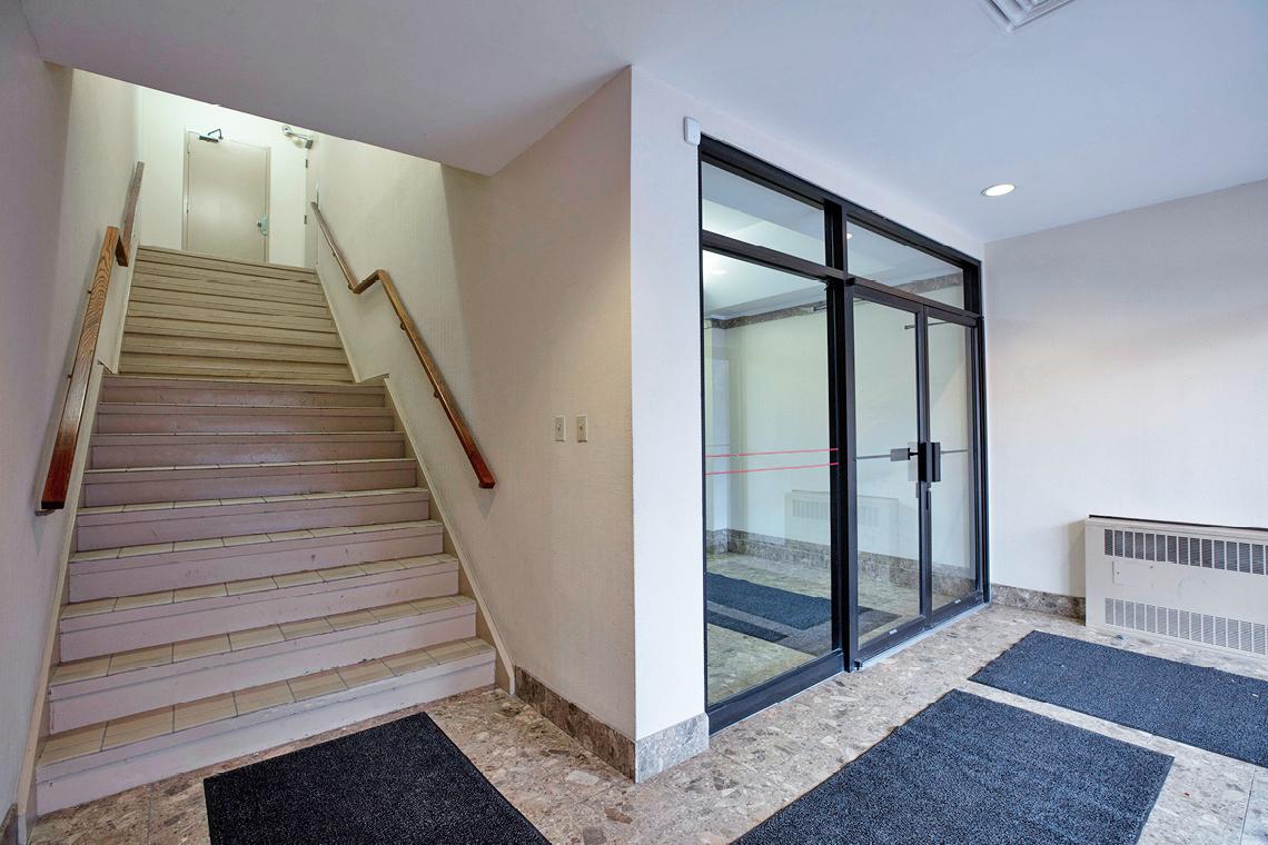 lobby interior facing staircase 1339 wellington street west