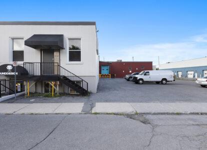 166 elm street exterior showing common loading dock