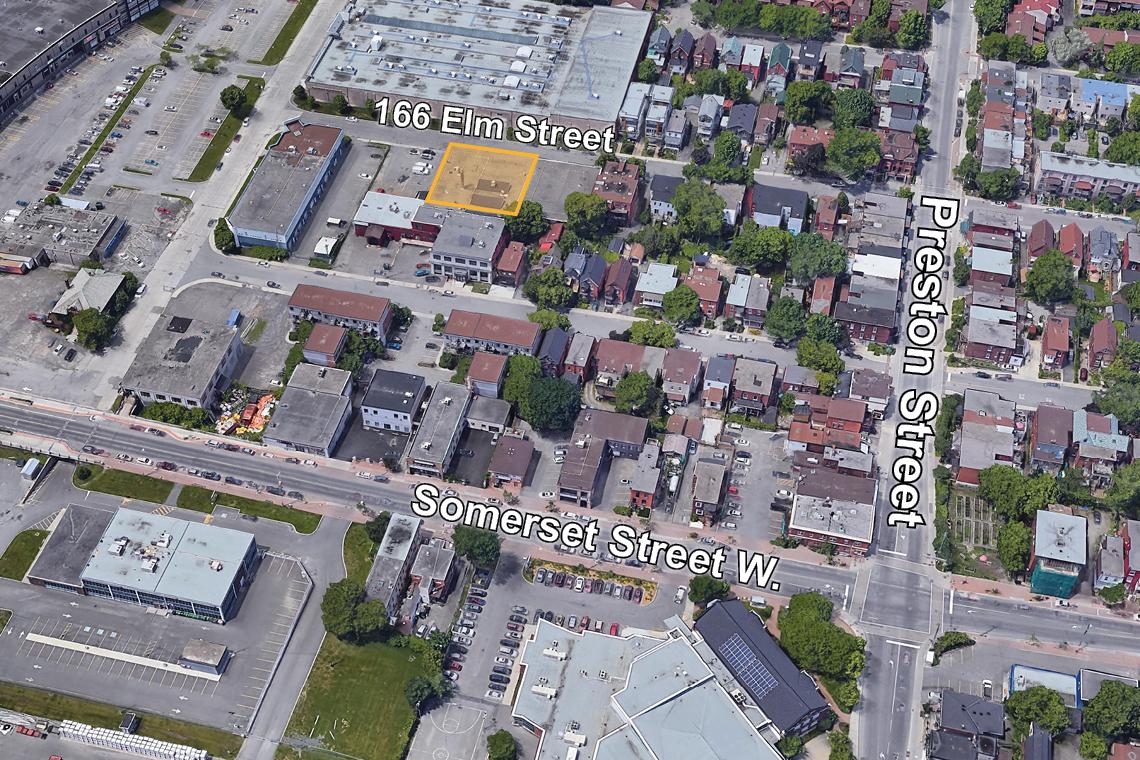 map of 166 elm street