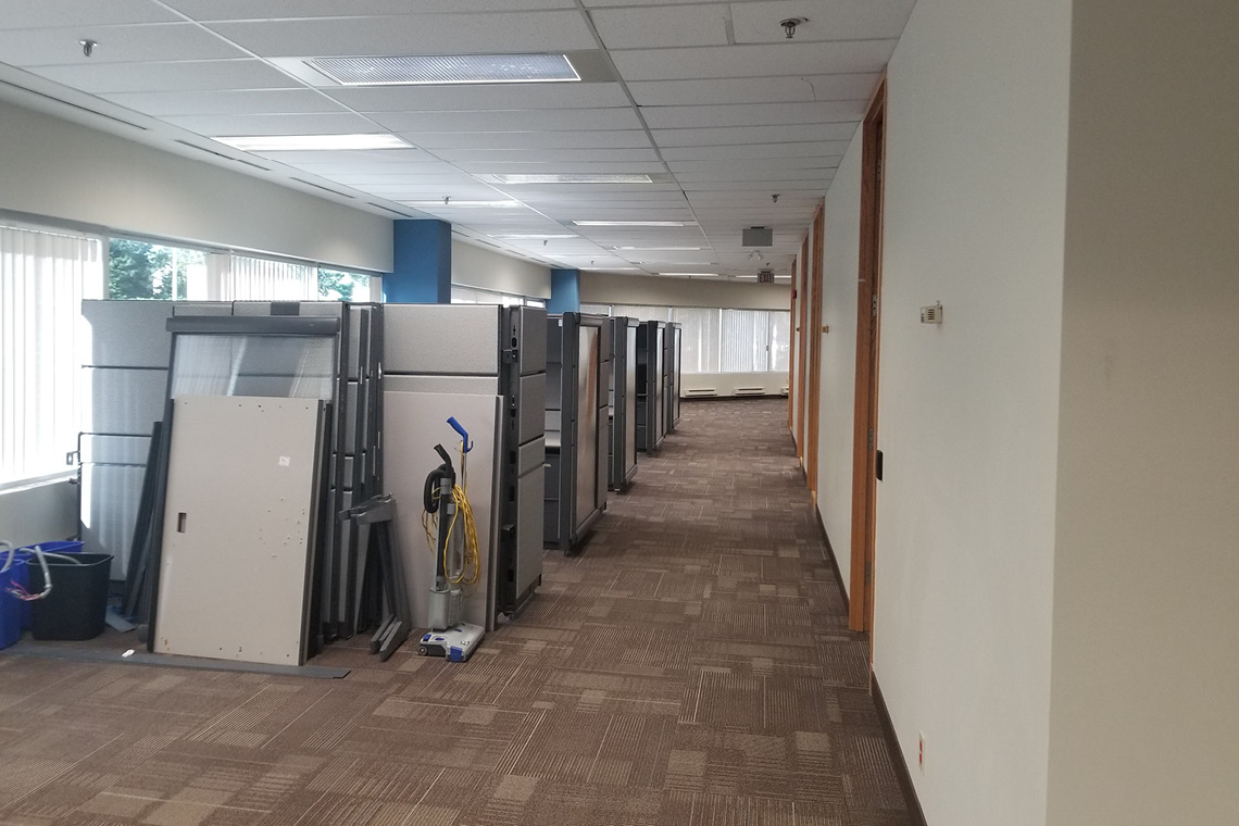 open work area and cubicles 1130 morrison drive