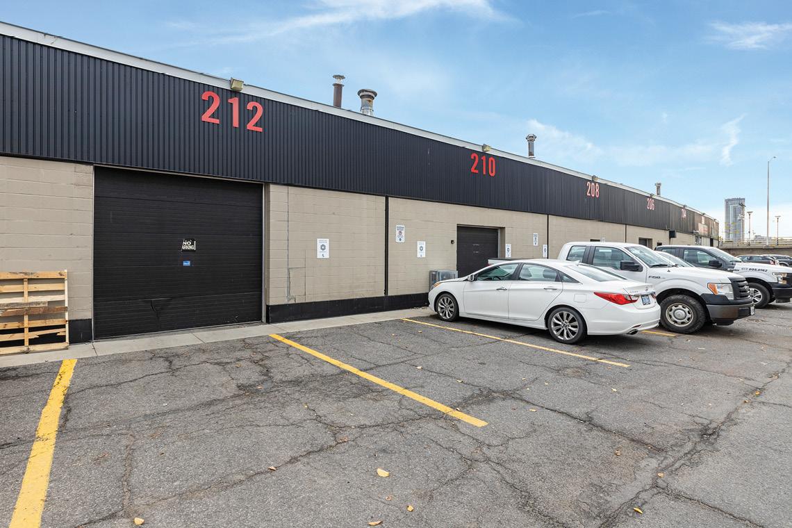 warehouse bay 208-218 exterior, overhead doors