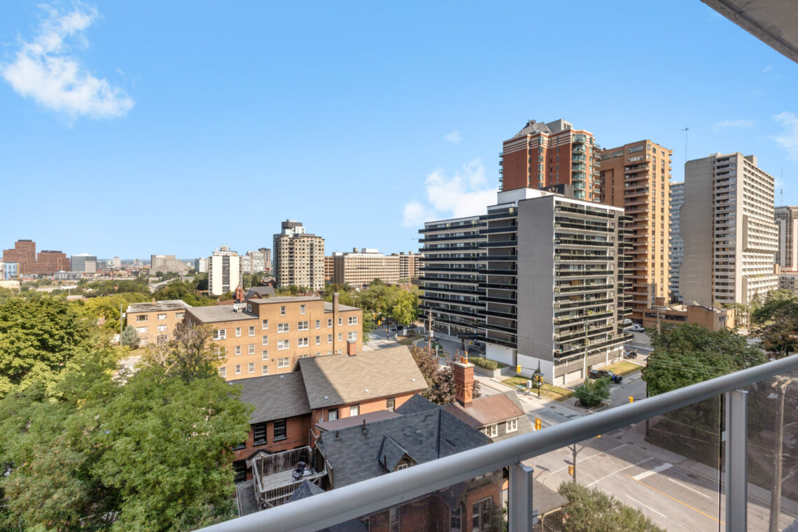 Beautiful view of downtown Ottawa from the spacious balcony at 192 Bronson Ave.