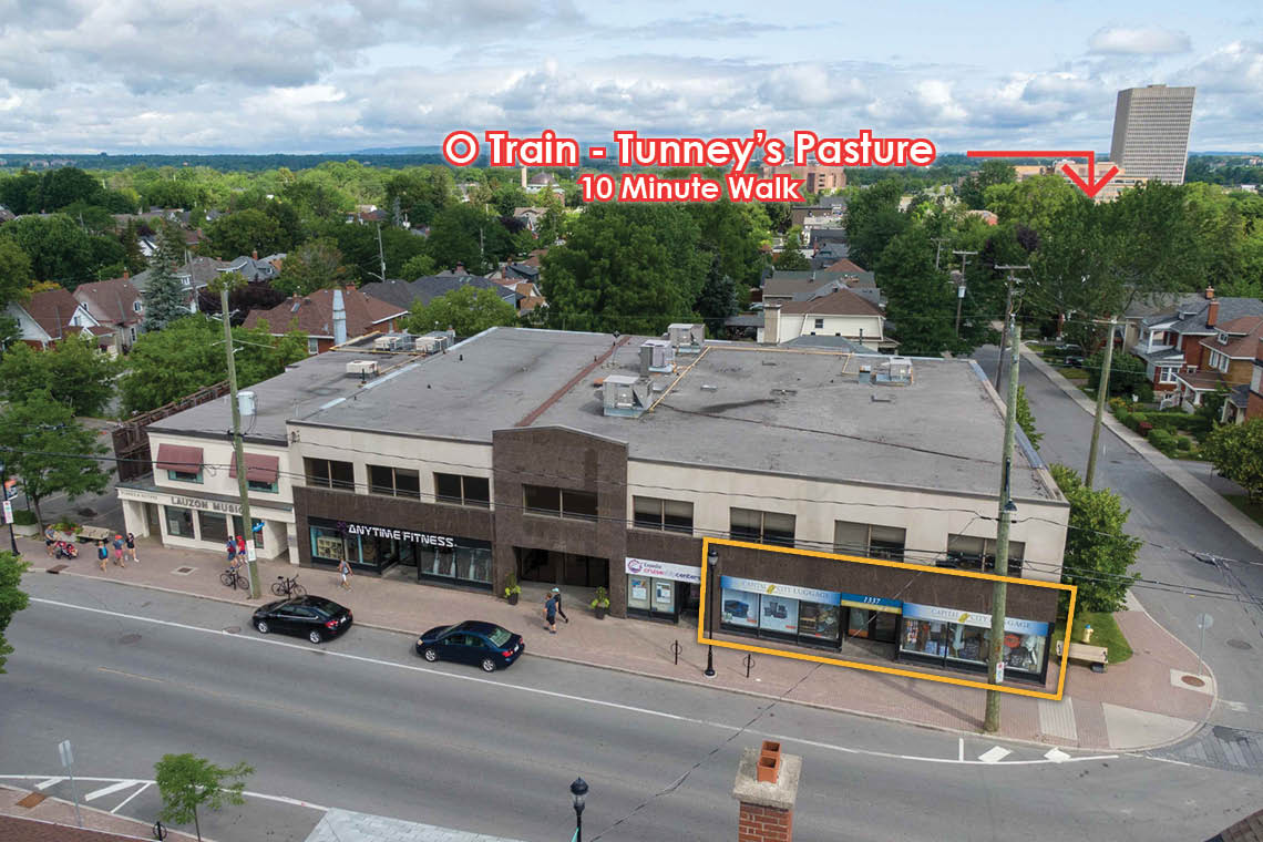 aerial photo 1337 wellington street showing proximity to tunneys pasture station