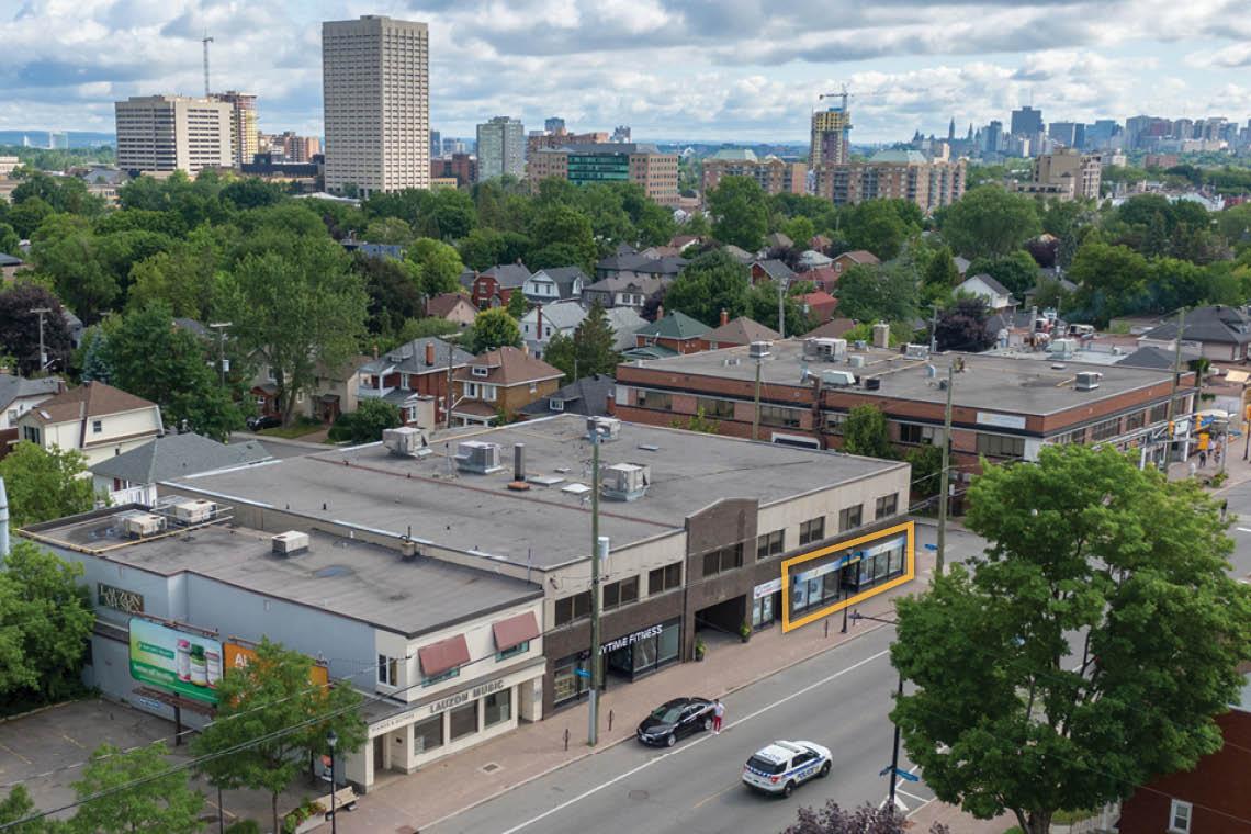 aerial photo 1337 wellington street west facing downtown ottawa
