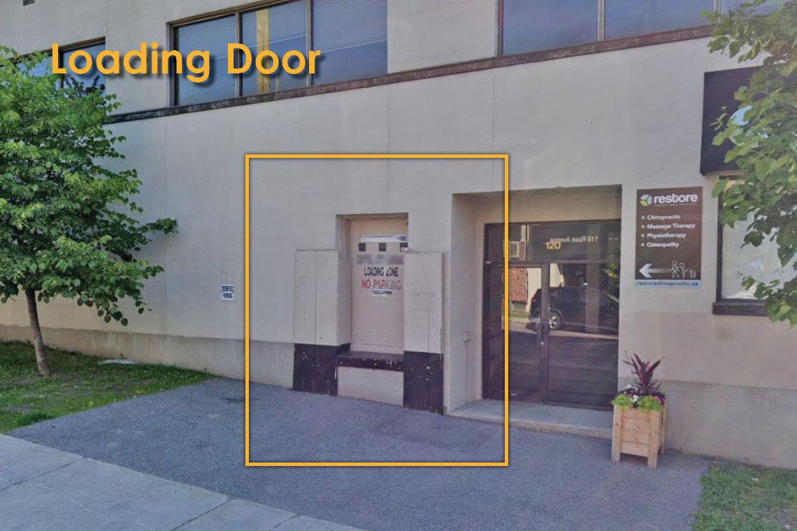 loading door for 1337 wellington street