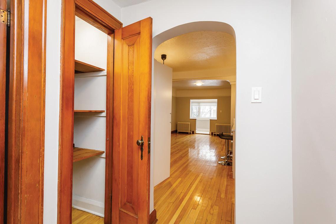 unit 1 hallway closet beautiful wood finishes 45-47 saint andrew street