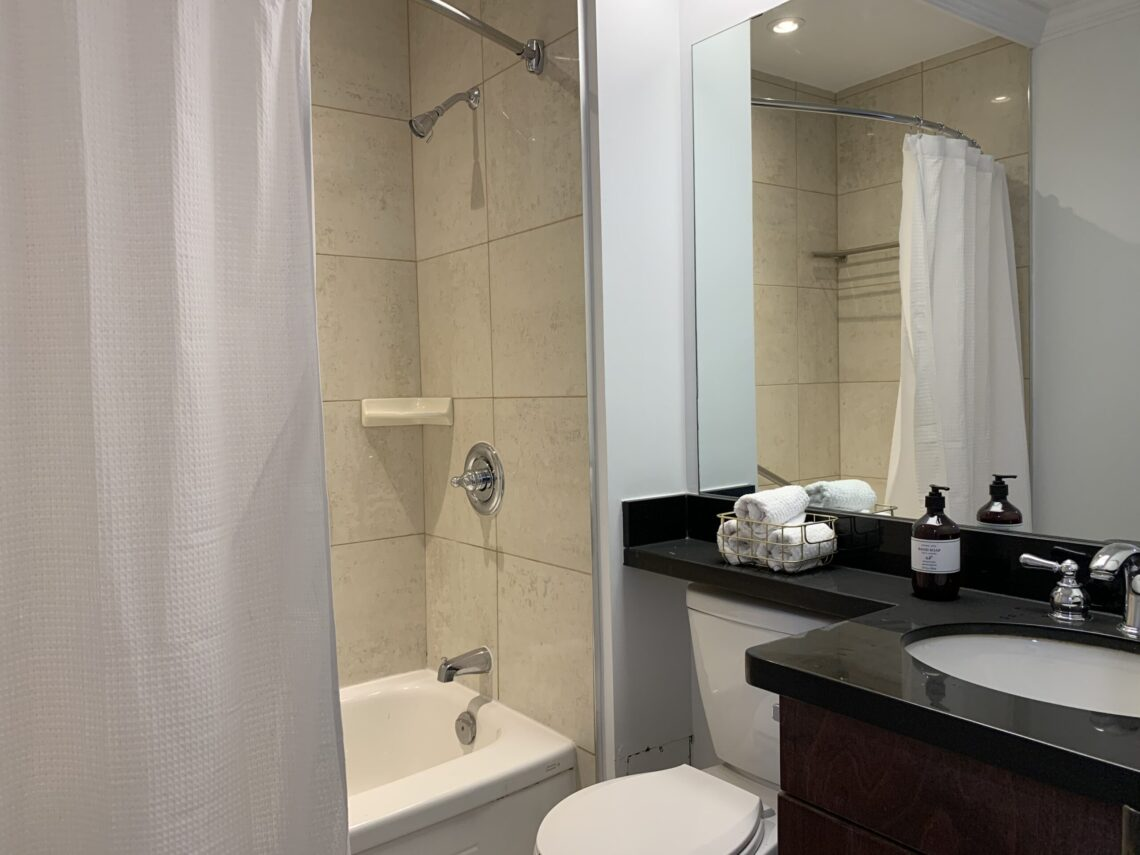 Bathroom in bachelor at 377 O'Connor